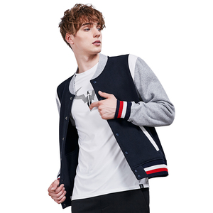 Mens Patchwork Jacket Running Fitness Long Sleeve Tops Cotton Winter Sport Jacket