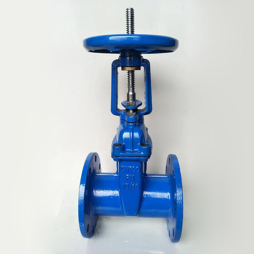 TKFM water use soft connection rising stem slide cast iron sluice gate valve dn 50