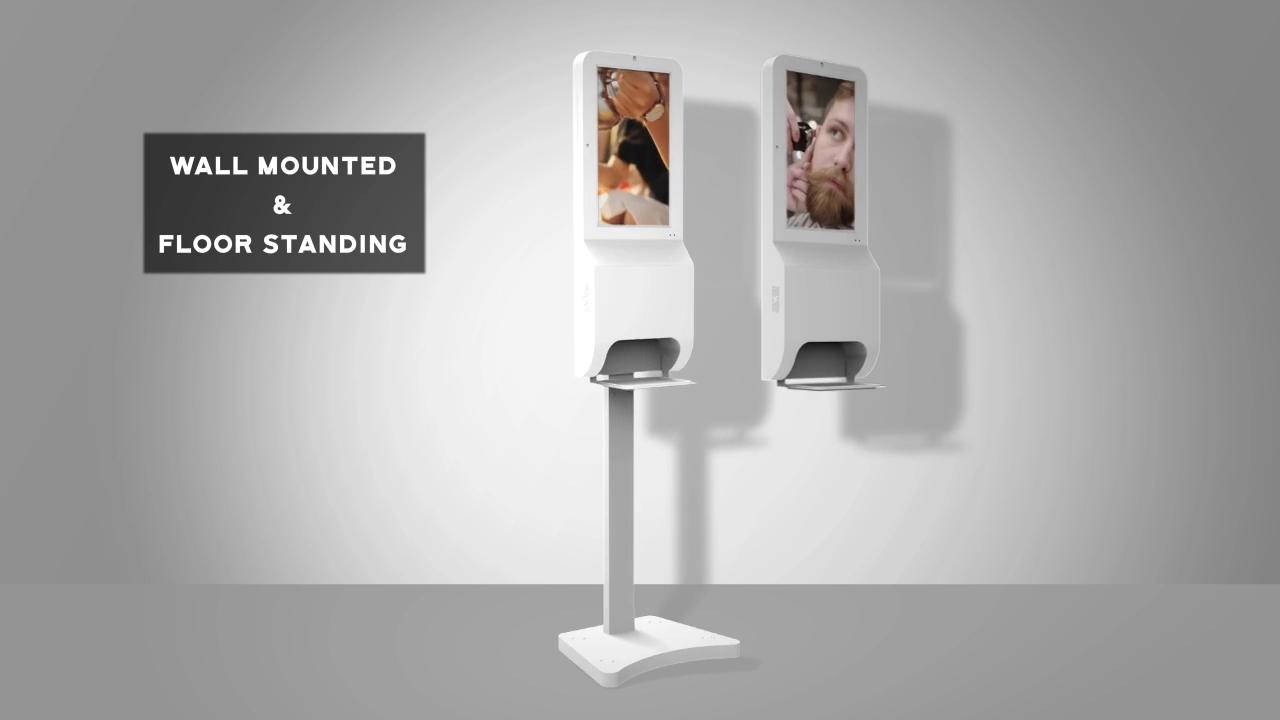 Professional soap dispenser manufacturer wall mount totem hand sanitizer automatic alcohol gel dispenser