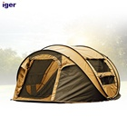 4-6 Person Boat Tent Big Family Fiberglass Pole Waterproof Outdoor Tent for Camping