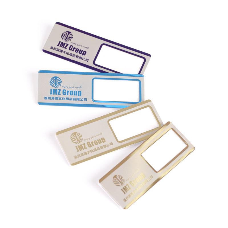 Fabriek Prijs Aangepaste Metalen Werk Nummer Plaat Productie Personeel Naam Kaart Pin Visitekaartje