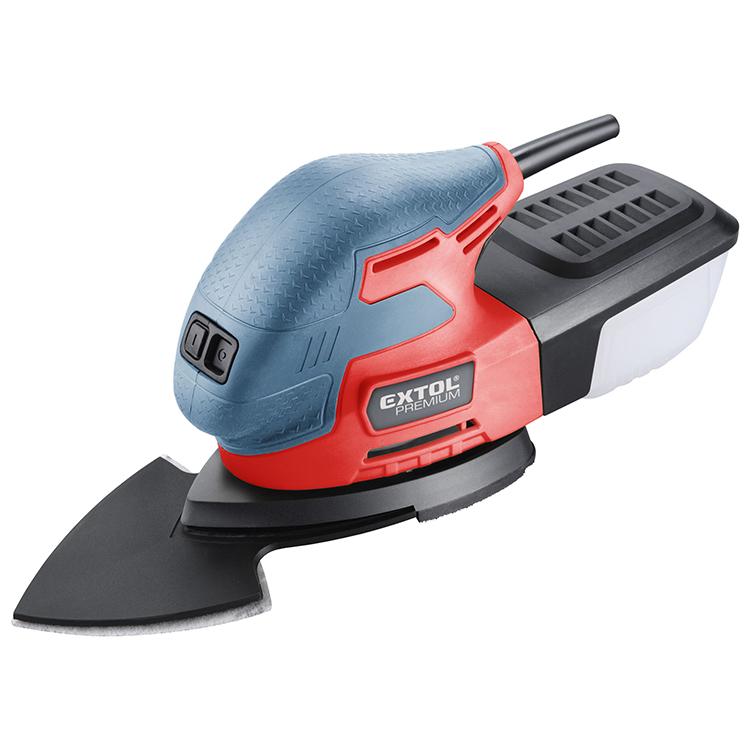 8894002 EXTOL 3 в 1 220 Вт 85 мм Электрический delta шлифовальный станок/пальмовый шлифовальный станок со светодиодным освещением/шлифовальная бумага