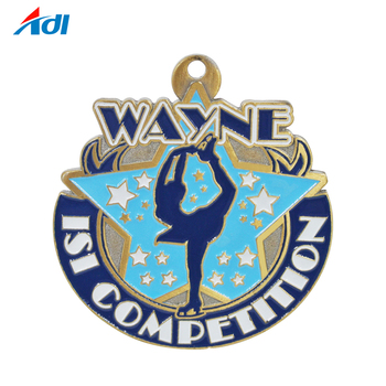 Top Quality Custom Finisher Dance Award Coining Medal With Ribbon