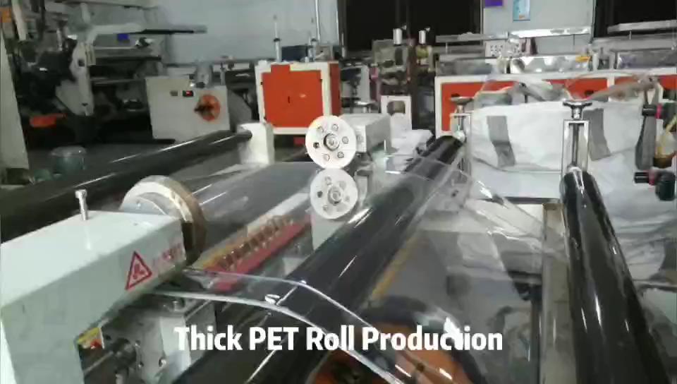 Pasokan Produsen 0.3Mm Film Gulung PET Termoplastik Kaku Bening untuk Pembuatan Vakum