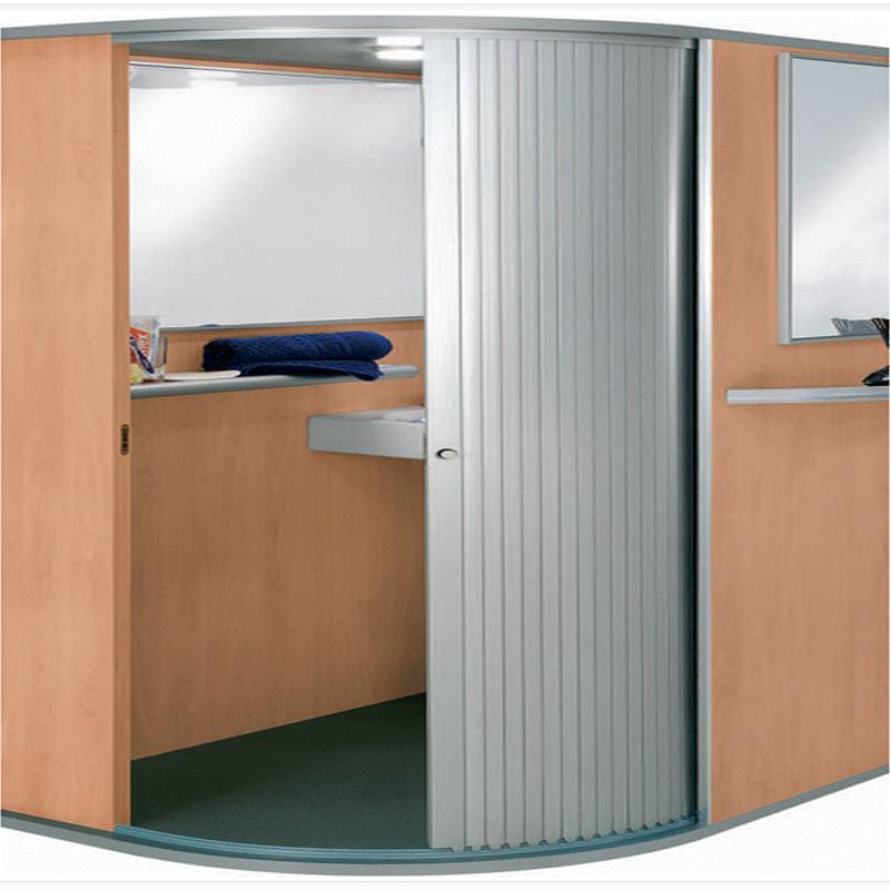 Ruizhan Kitchen Roller Cabinet Horizontal Slatted Tambour Door Shutter Cabinet Doors For Furniture