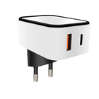 Saa Charge Charger Travel Usb Charger KC CE Rohs SAA 18W Type C PD Qualcomm Quick Charge 3.0 Fast Dual USB Travel Wall Power Adapter Charger