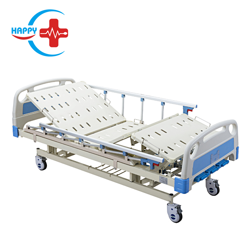 HC-M005 High Quality ABS Three Cranks Mechanical Hospital Bed with cheap price