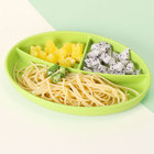 Kids Round Placemat Tray Toddlers Dinner Divided Food Plate Set Suction Silicone Baby Plate