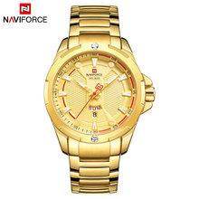 Люксовый бренд NAVIFORCE военные модные золотые часы Мужские кварцевые наручные часы Спортивные Повседневные часы водонепроницаемые часы Relogio ...(Китай)