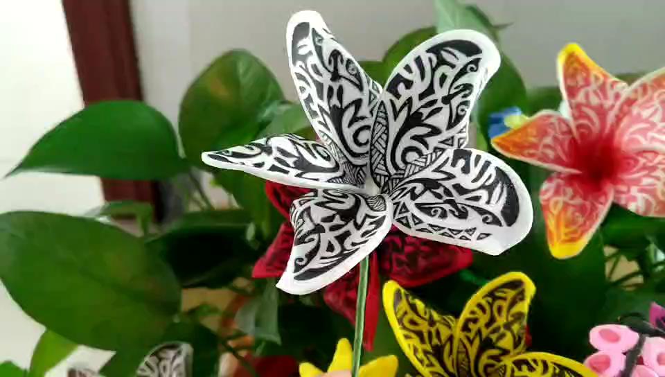Custom Hawaiian Afdrukken Patroon Mooi Haar Decoratie Foam Bloemen