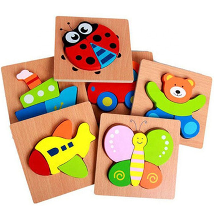 Children Brain Teaser Puzzle Teaching Aids Intelligence Toys Wooden 3D Puzzle Jigsaw Board Montessori Educational Toys