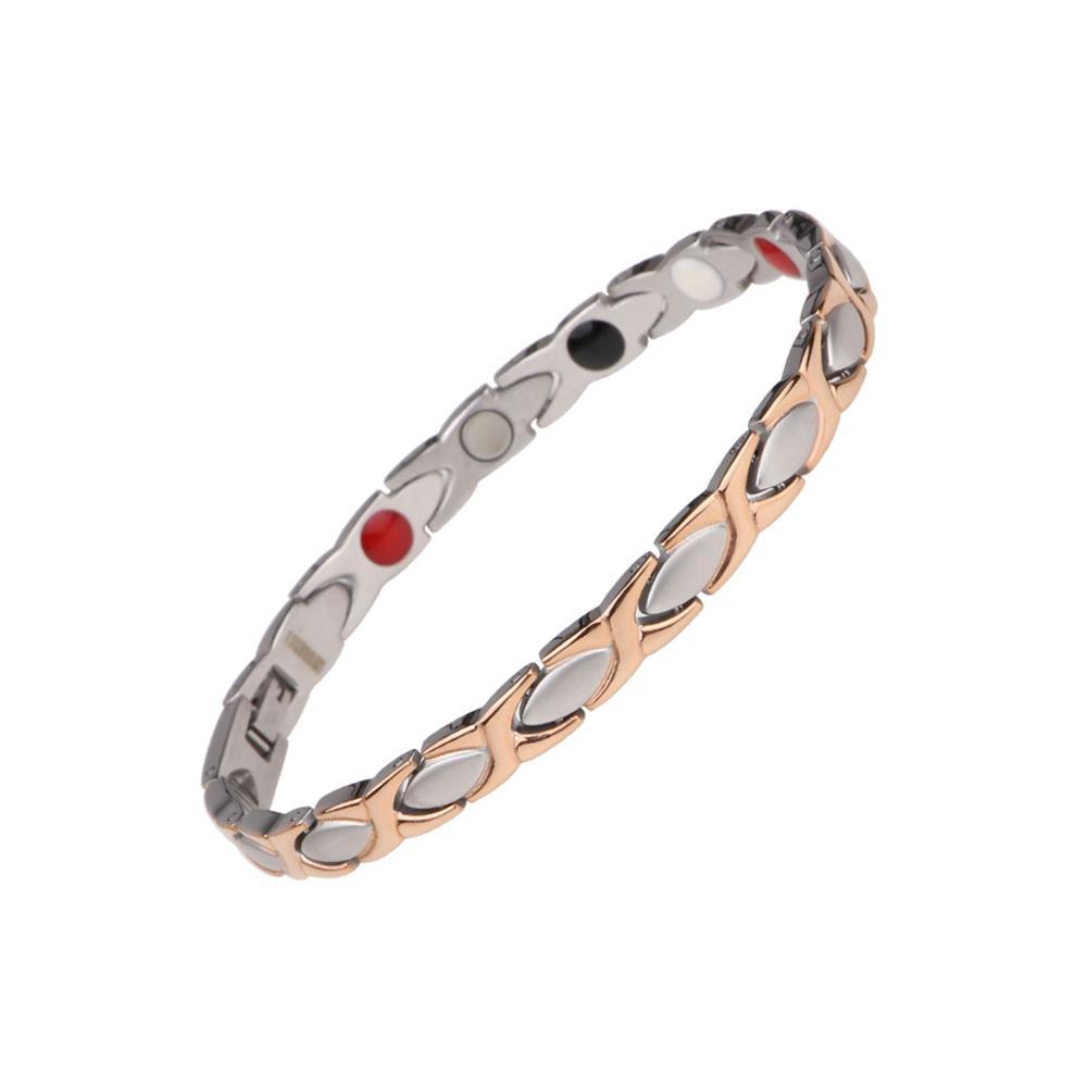Shenzhen Migaga 316L Stainless Steel Full Magnets Or 4 In 1 Accept Custom Colors Healthy Energy Bracelet Women