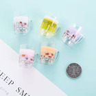 Keychain pendant pendant earrings accessories DIY earrings ear hook jewelry accessories DIY plastic cup