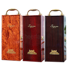 Hot selling single wooden box gift wine paper packaging for bottle