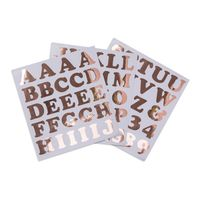 Custom waterproof vinyl alphabet letters sticker