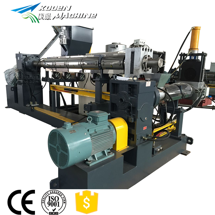 KOOEN Recycle pp pe pvc pelleting machine plastic korrels making machine prijs