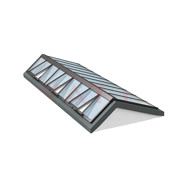 New Design Dormer 55*78 Outdoor Aluminium Owning Roof Window Impact Resistance Security Skydome Window manufacturer
