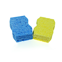 Eco friendly kitchen scrub clean natural wet cellulose sponge sheet