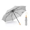 2020 high quality brand design Wooden Handle ladies travel folder parasol