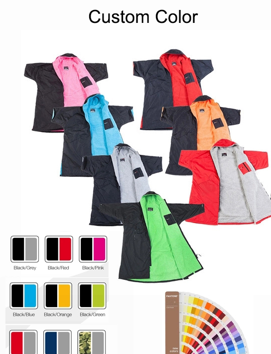 2020 i più nuovi di vendita calda da surf poncho asciugamano cambio dryrobes con fodera in microfibra