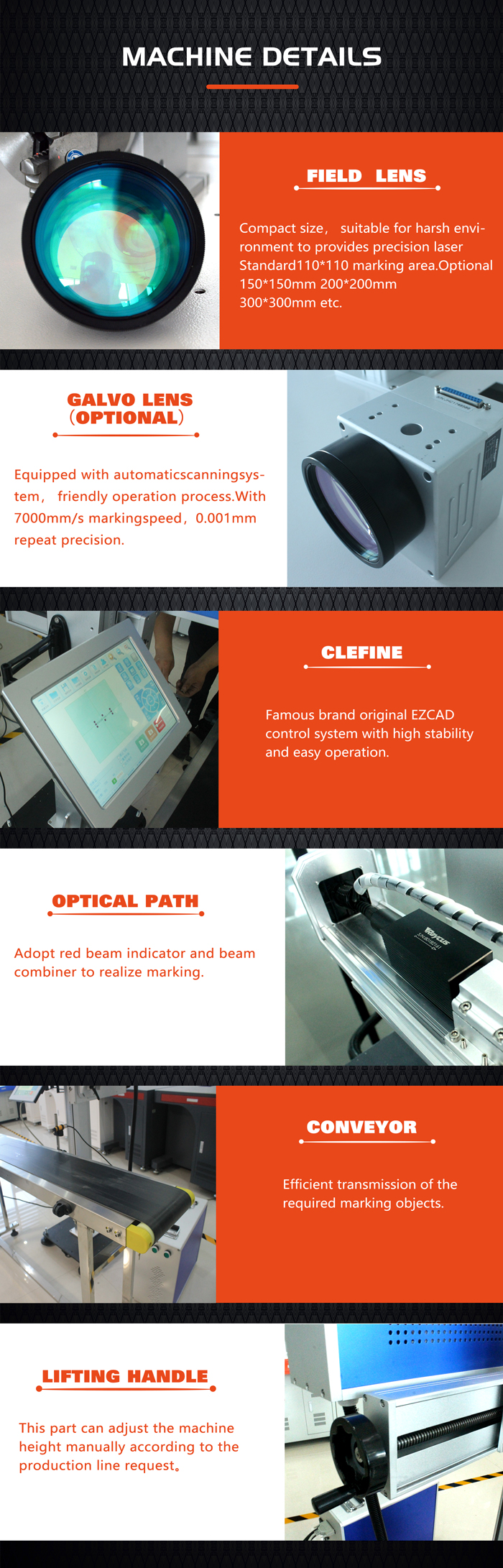 Industrial Professional Flying Fiber Co2 UV Laser Marking Machine for Metal and Plastic