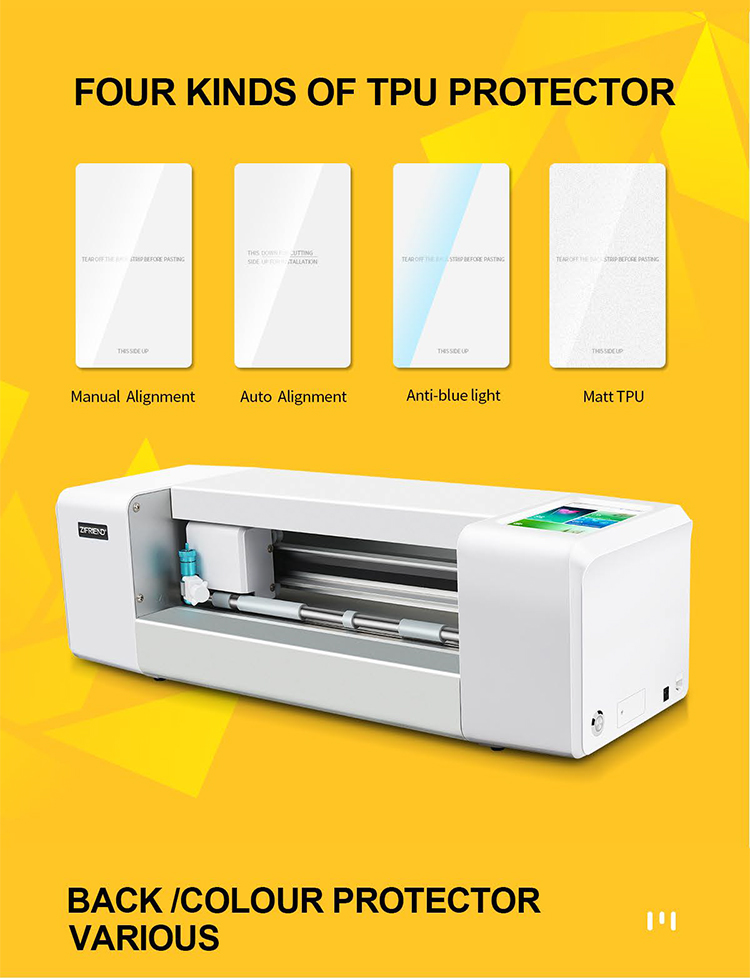 High quality intelligent TPU hydrogel mobile phone screen protector film cutting machine for iPhone 12 11 Pro max Samsung HUAWEI