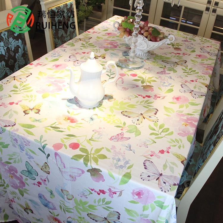 Tùy chỉnh KÍCH THƯỚC In Cotton & khăn trải bàn khăn trải/nhà hàng khăn trải bàn