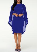 Женское шифоновое платье большого размера 5XL, элегантное платье-накидка с рукавами для свадебной вечеринки, весна-лето 2020(Китай)