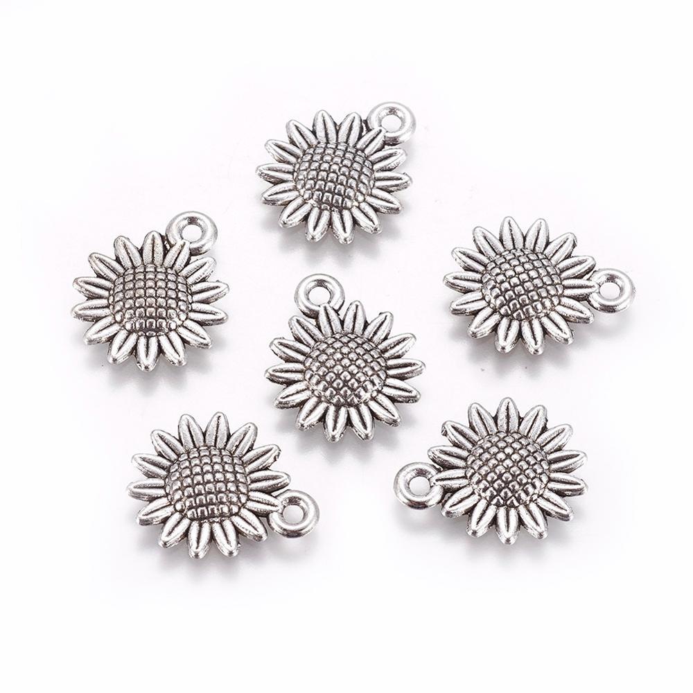 Impresionante colección de plata tibetana encantos collar pulsera joyería haciendo