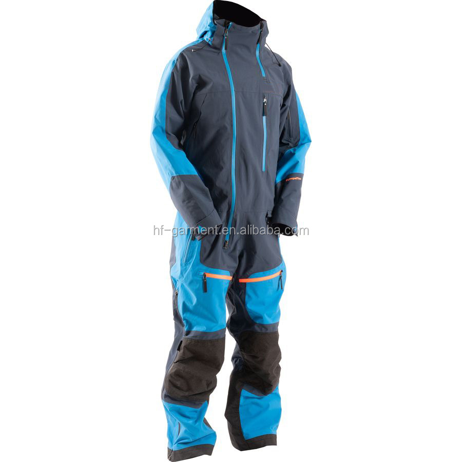 Custom Logo High Quality Skiing Suits Winter Men Snow Suit One Piece Snowmobile Suit