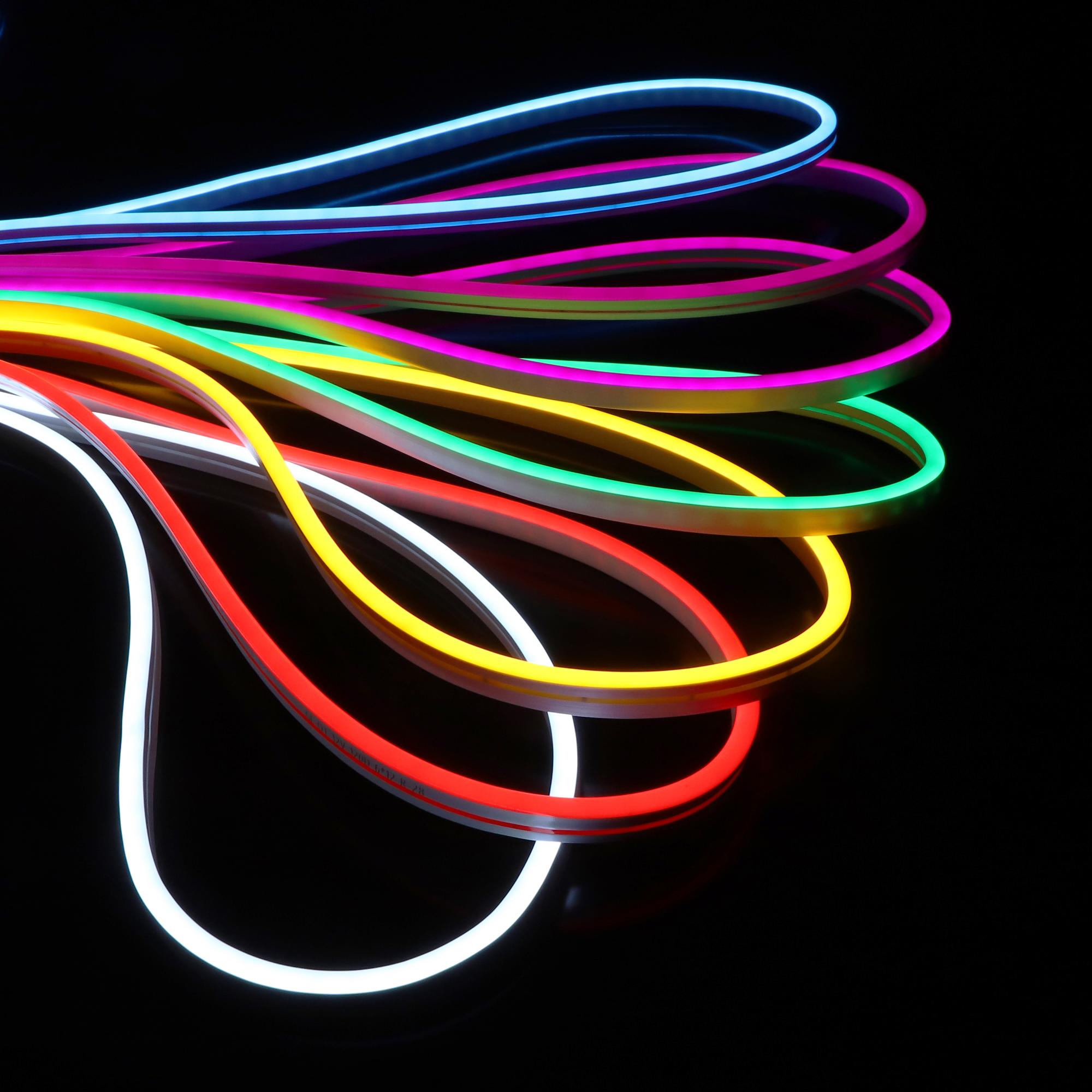New led neon flexible strip 12v 24v Silicone flexible 6*12mm top view led neon flex light ip67