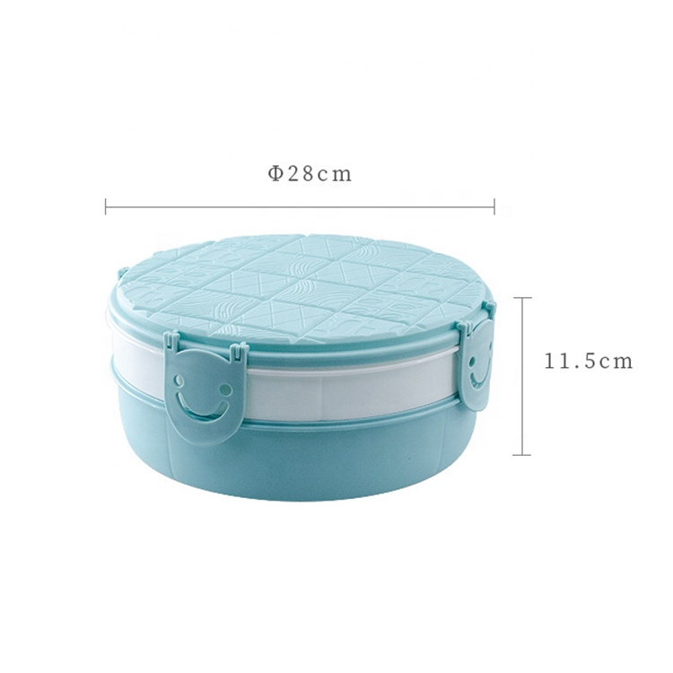AFTCE172(2) Chinese Round Snack Candy Box Plastic Nuts Food Storage Container