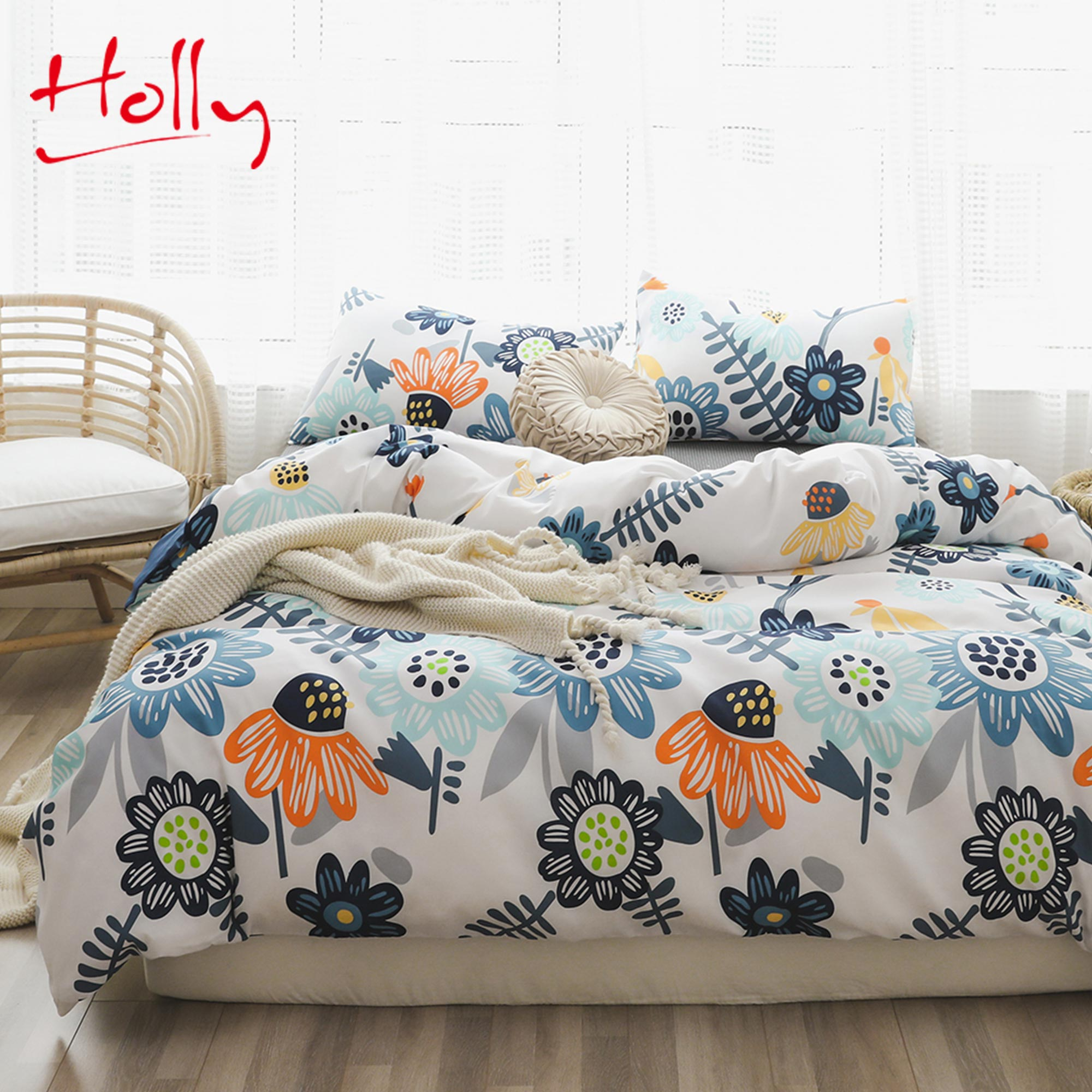 Holly comforters bedding sets  king size cotton bedsheets