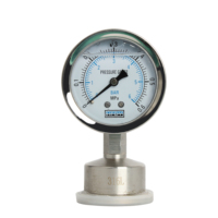 SS316L Sanitary Stainless Steel Clamped Liquid Oil Filled Diaphragm Pressure Gauge