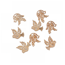 Professional manufacture laser cut bird shaped decorations wooden craft slices for crafts wood craft animals