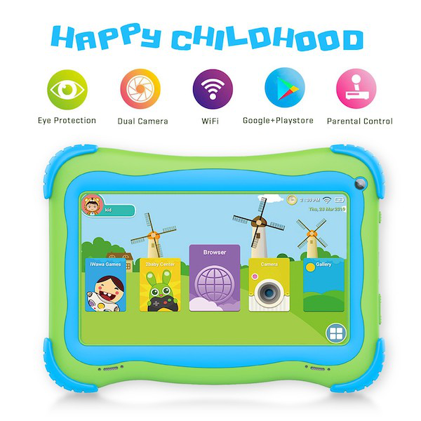 Christmas Gift for Children Pre-Installed Educational APP 7 inch Kids Android 8.1 <strong>Tablet</strong> Pc with 1GB Ram 16GB Storage