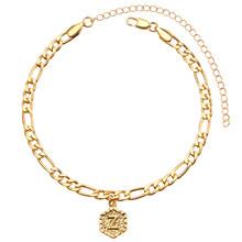 A-Z, начальная анклет с буквами, золотой цвет, начальный браслет на ногу с буквами для женщин, модные алфавитные украшения в подарок на Новый г...(Китай)