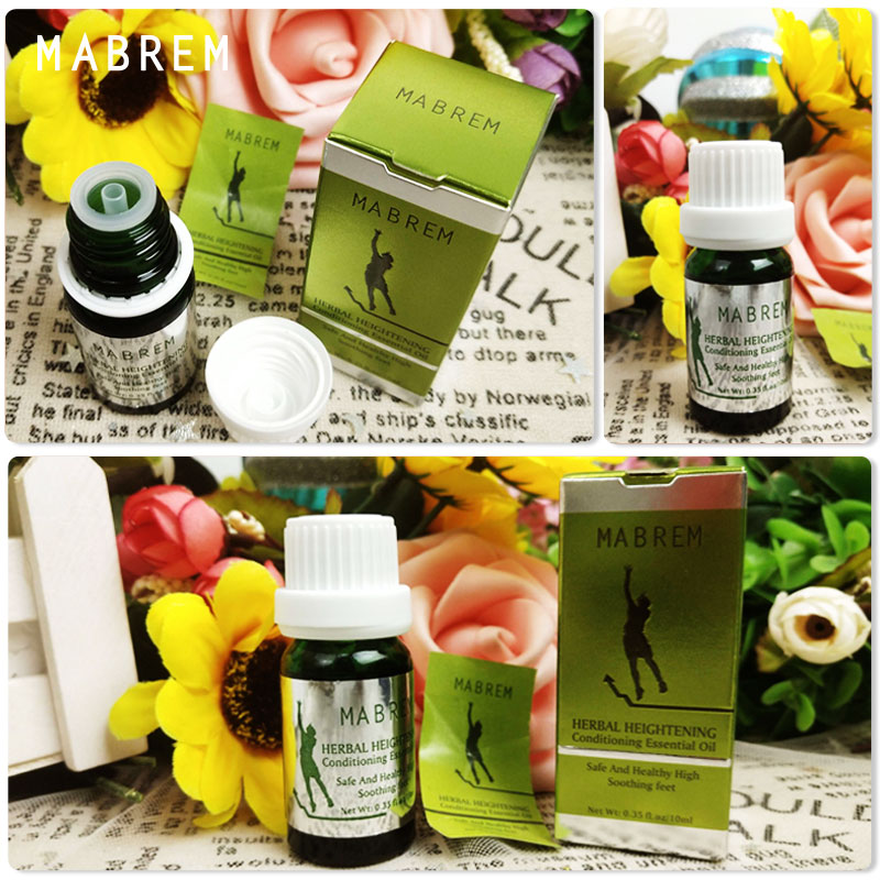 MABREM Natural Herbal Body Heightening Conditioning Height Increasing Growth Essential Oil