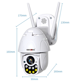 SECTEC home police alert Wireless smart home wifi camera with policy Leds support google home and Alexa products