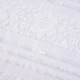 White sequin embroidered ivory bridal tulle lace fabric for wedding dress