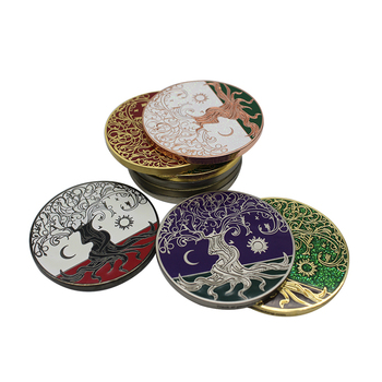 High quality free sample color enamel  souvenir custom 3d challenge coin samples