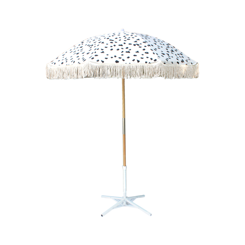 Fantastic luxury tassel Patio wooden garden outdoor Beach Umbrella