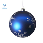 Christmas Decoration Supplies Hand Painted Christmas Glass Hanging Ball Blue Hand Painted Hanging Glass Christmas Ball Ornaments For Christmas Tree Decoration
