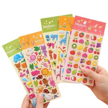 3d foam bubble stickers custom Bulk kids diy cute fruit reward puffy sticker for Gift Scrapbooking