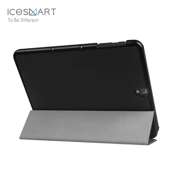 Black tri fold pu leather ultra slim shell cover for samsung galaxy tab S3 9.7 T820 /T825