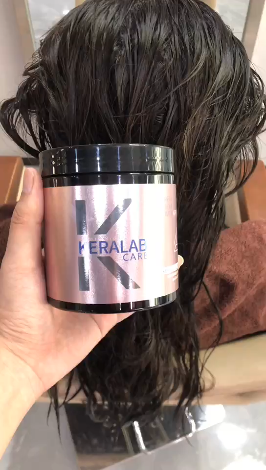 OEM/ODM Free Sample Wholesale private label color treated hair keratin treatment mask with hair