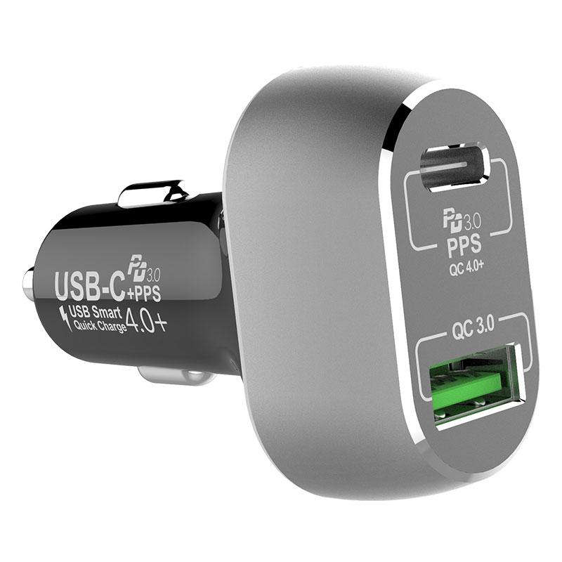 Dual พอร์ต 63 วัตต์ USB Car Charger สำหรับแล็ปท็อปและโทรศัพท์มือถือในเวลาเดียวกัน