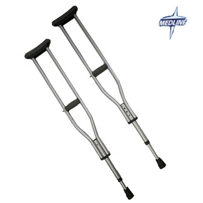 Espuma ajustable de las axilas telescópica a axilar de aluminio codo muleta para ancianos OEM Medline