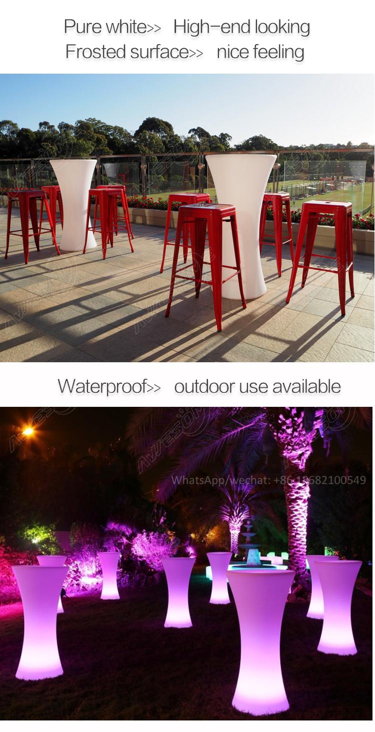 Mange debout Lumineux LED Multicolore-RONDE ont mené le tableau de barre de cocktail