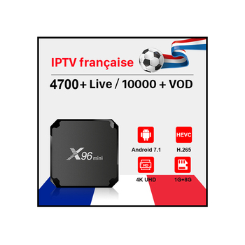 X96 MINI Android 7.1 IPTV Box Amlogic S905W 1GB RAM 8GB ROM with HD French IPTV Account DATOO 1 Year